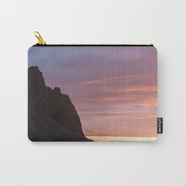 Sunrise at Stokksnes mountain beach in Iceland - Landscape Photography Carry-All Pouch
