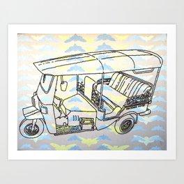 Cicada Tuk Tuk Art Print