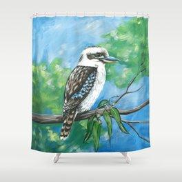 Kookaburra in a Gumtree Shower Curtain
