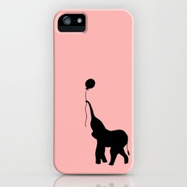 Elephant with Balloon - Pink iPhone Case