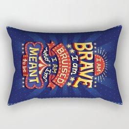 I Am Brave Rectangular Pillow