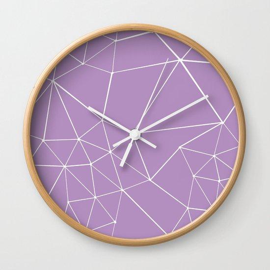 Segment Zoom Orchid Wall Clock