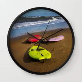Waiting for a wave Wall Clock