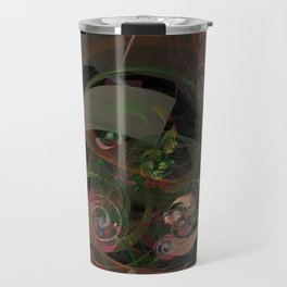 Abstract Fractal Spiral Travel Mug