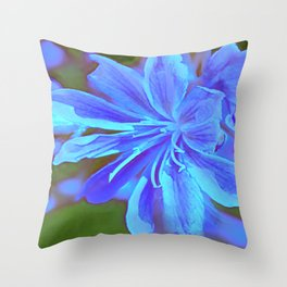 Blinded by Blue Throw Pillow