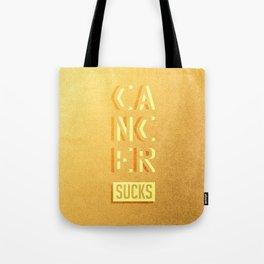 Cancer Sucks Tote Bag