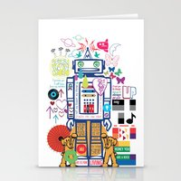 coldplay Stationery Cards featuring we live in a beautiful world by Giulia De grazi