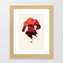 Javelin Red Framed Art Print