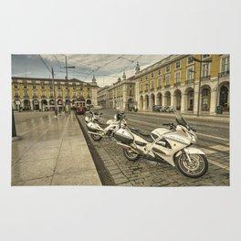 Lisbon Police Bikes  Rug