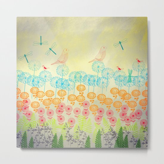 Whimsical Garden Metal Print