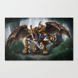Tiger Dragon Canvas Print