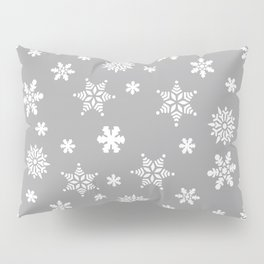 Snow Flurries-Light Gray Pillow Sham