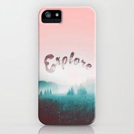 Explore the Wild. Wanderlust iPhone Case