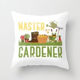 Gardener Heaven Throw Pillow