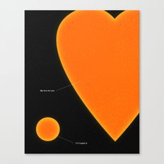 My Love For You Canvas Print