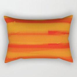 Hot Summer Sunset Watercolor Abtract Rectangular Pillow