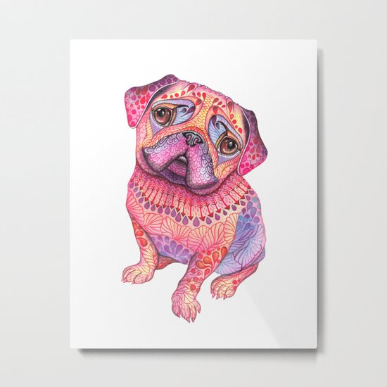 Pugberry Metal Print