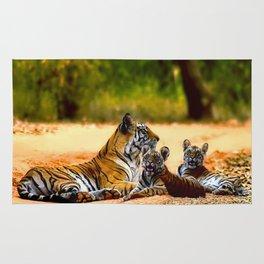 Tiger Family Rug