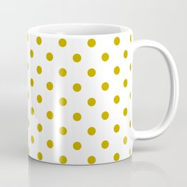 White and Gold Polka Dots Coffee Mug