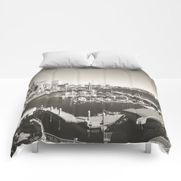 Gray Seattle Comforters