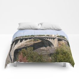 Monroe Street Bridge in Spokane Washington Comforters