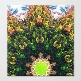 Mandala: Toronto Skyline - Riverdale park Canvas Print