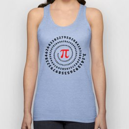 Pi, π, spiral science mathematics math irrational number Unisex Tank Top