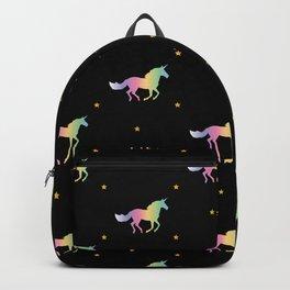 Rainbow Unicorns & Stars Backpack