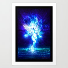 A fairy in the moonlight Art Print