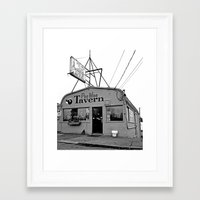 pee wee Framed Art Prints featuring Pee Wee Tavern by Vorona Photography