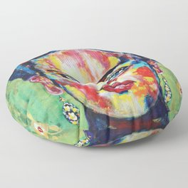 Frida «Pink Flowers» Floor Pillow