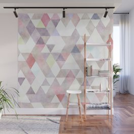 Modern abstract geometrical pastel tones watercolor Wall Mural