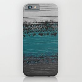 Teal and Gray Abstract iPhone Case