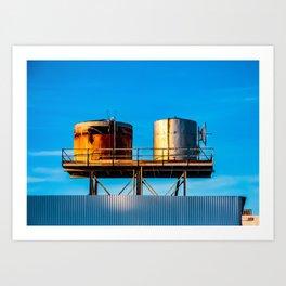 Water Tanks. Amboy. California. USA. Art Print