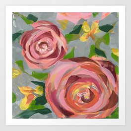 Platinum Rose Art Print