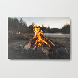 Campfires along the Coast Metal Print