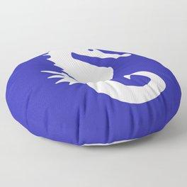 Seahorse (White & Navy Blue) Floor Pillow