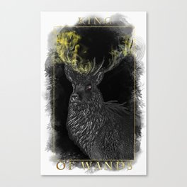 King of Wands Canvas Print