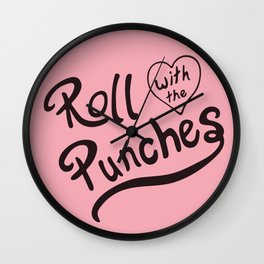 Roll With The Punches Wall Clock