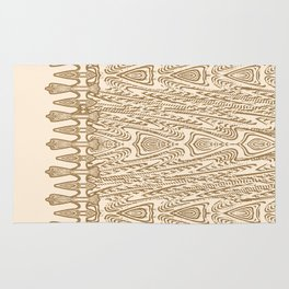 Sepia Macramé Arrowhead Chenille Lace Pattern Rug