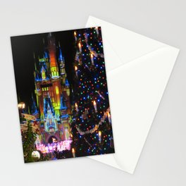 The castle at Christmas Stationery Cards
