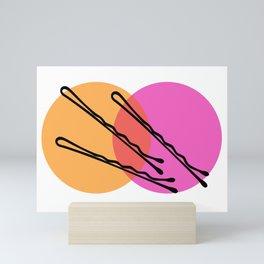 Bobby Pins Orange and Pink Mini Art Print
