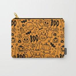 Spooky Pattern - Orange Carry-All Pouch