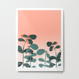 Later Days - indoor house plant ombre pink palm springs desert socal los angeles urban hipster retro Metal Print