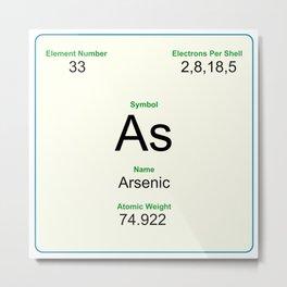 33 Arsenic Metal Print
