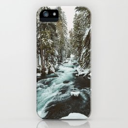The Wild McKenzie River Portrait - Nature Photography iPhone Case