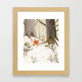 The little fox in the forest Framed Art Print