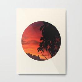Beautiful Red & Orange Tropical Sunset Metal Print