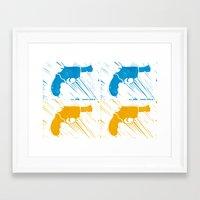 guns Framed Art Prints featuring Guns by Chloe Bromfield