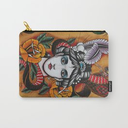 Woman with snake Carry-All Pouch